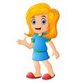 happy little girl cartoon vector image