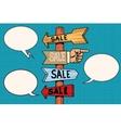Pointers arrow sale signs navigation vector image