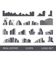 real estate logo set abstract creative building vector image