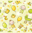 seamless pattern with babies vector image