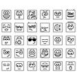 Set Square Emoticons vector image