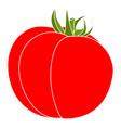single tomato isolated on white background vector image