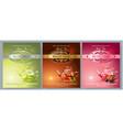 tea packaging banners vector image