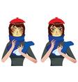 Sneezing Woman2 vector image