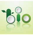 word bio infographics design vector image
