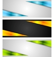 Abstract bright tech banners vector image vector image