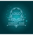 Shiny corporate style pattern logo vector image vector image