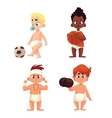 baby in diapers playing sports vector image