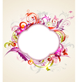 label swirl vector image