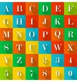 Alphabet and numerals vector image