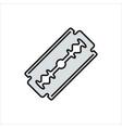 blade razor icon on white vector image