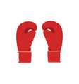 boxing gloves red fight boxer vector image