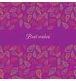 Colorful paisley card vector image