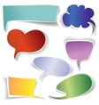 frames and Speech bubbles collection vector image