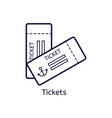icon of tickets on a white background vector image