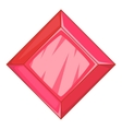 Ruby icon cartoon style vector image