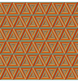 Seamless colorful Orange Triangulate Pattern vector image