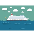 The of cruise ship vector image