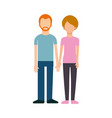 young couple with hands holding together adorable vector image
