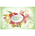 Floral background poppy and cosmos strawberries vector image