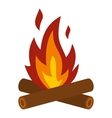 Camp fire icon flat style vector image
