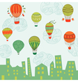 Cute Air Balloons Background vector image vector image