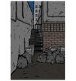 Back Alley Scene vector image vector image