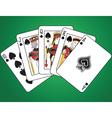 Royal Flush of Spades vector image