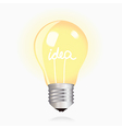 Light Bulb on white background vector image vector image