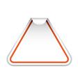 blank sticker vector image