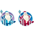 Russian Christmas Character Father Frost cartoon vector image vector image