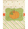 autumn pumpkin card vector image vector image