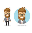 businessman with beard in formal suit vector image
