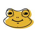 color cute frog head wild animal vector image