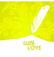 Colorful flower background with feather vector image