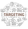 line flat circle targeting vector image
