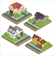 Modern House Modern Home Isometric Cottage Set vector image