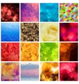 Set of multicolored geometric polygonal vector image