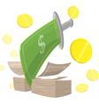 Sword Money Cut Finance vector image