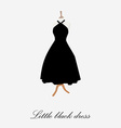 Woman black dress vector image