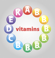 beads of vitamins vector image