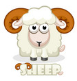 cute cartoon square sheep vector image