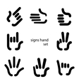 signs hand vector image vector image