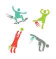 Active boys fitness sports set 1 vector image