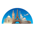 europe landmarks vector image vector image