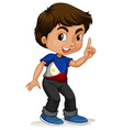 Philippines boy pointing a finger vector image