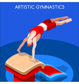 Gymnastics Vault 2016 Summer Games 3D vector image