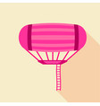 airship icon flat style vector image