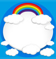 background design with rainbow in blue sky vector image