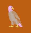 flat shading style icon eagle vector image
